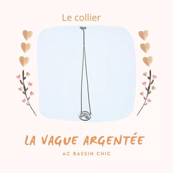 Collier Vague argentée AC Bassin Chic